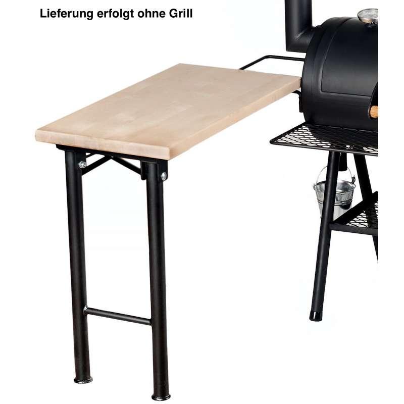 Rumo Barbeque JOEs Seitentisch mit massiver Holzplatte JS-2842