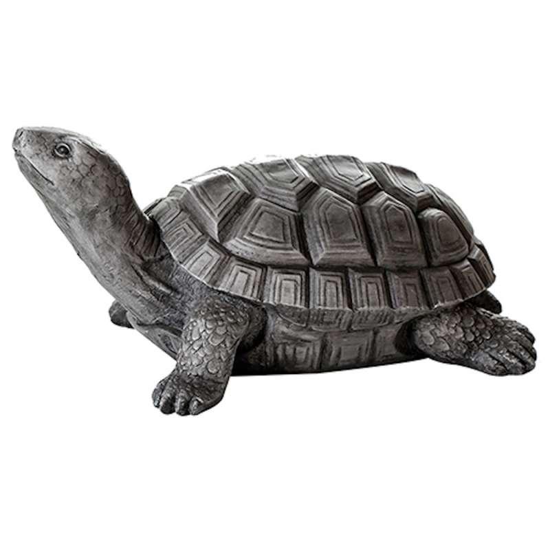 Casablanca Figur Schildkröte groß Dekoration grau Outdoor-geeignet 65 cm