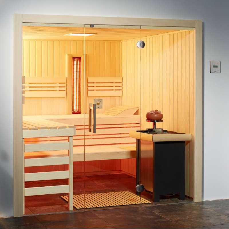 Infraworld Sauna Opal Elementsauna Größe 210 x 180 cm in Espe