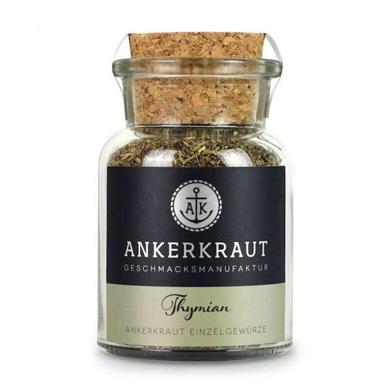 Ankerkraut Thymian Gewürz Thymiangewürz gerebelt Grillgewürz Korkenglas 30 g