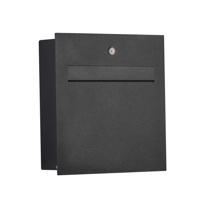 Heibi Briefkasten Scatalux Aluminium pulverbeschichtet Graphit-Grau 64489-039