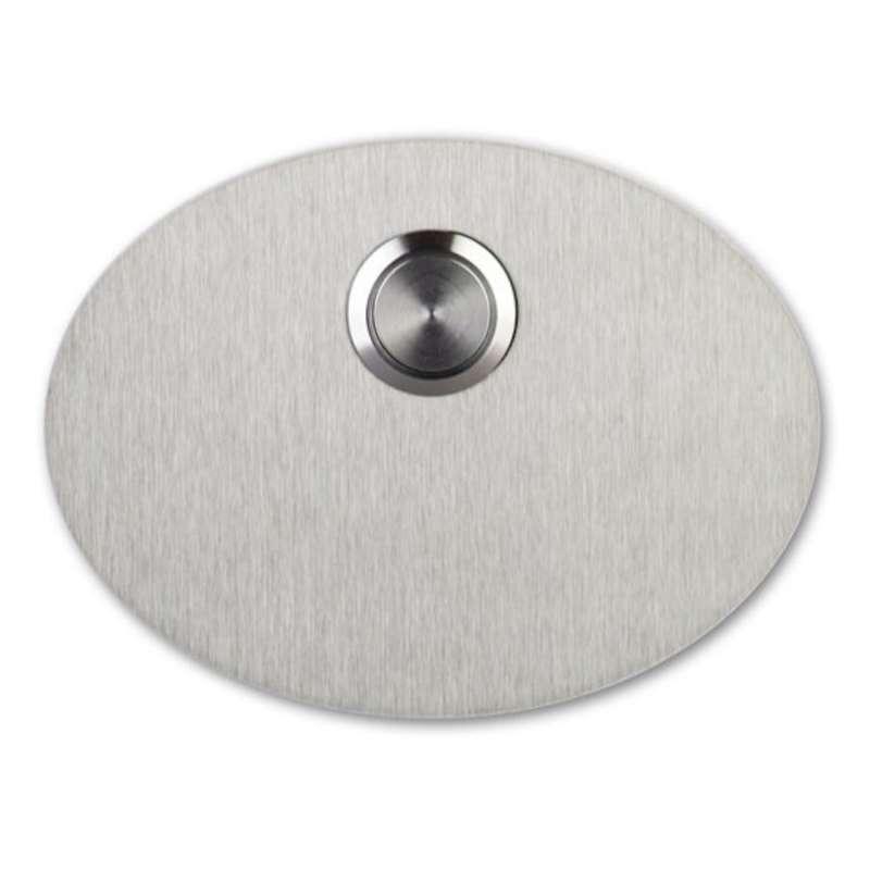 Heibi Klingelknopf POSO Edelstahl oval 10x7,5 cm Türklingel