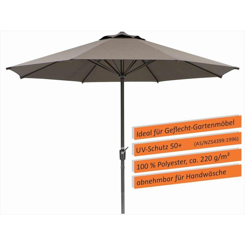 Schneider Schirme Korsika Mittelmastschirm ø 320 cm braun Sonnenschirm Mittelstock