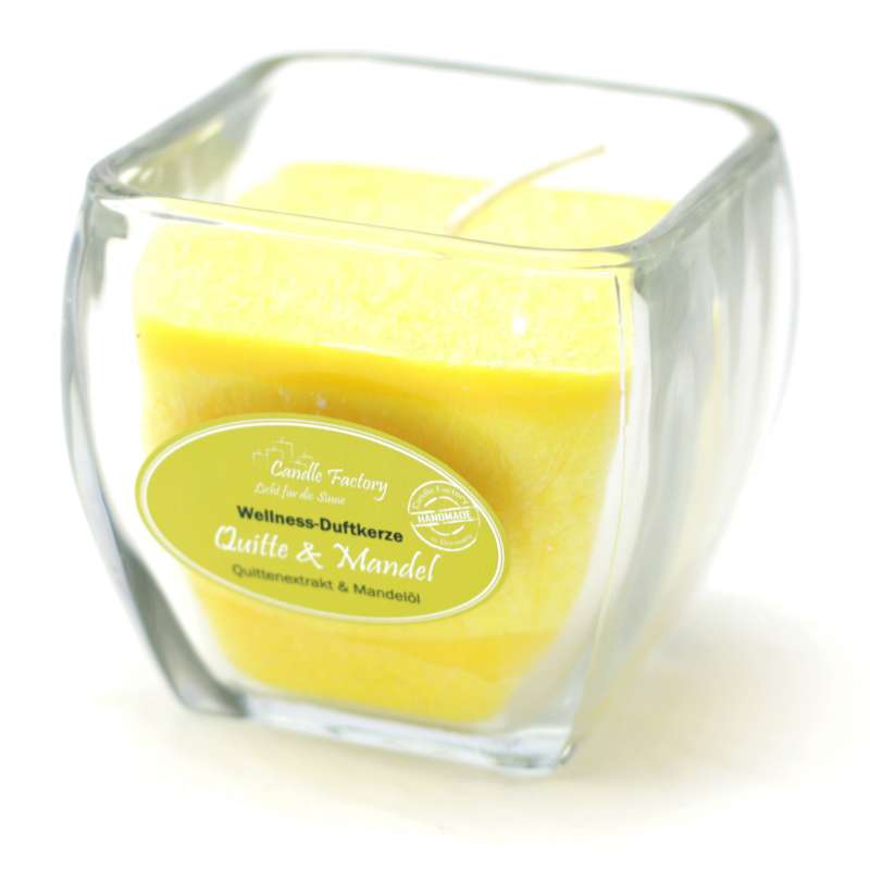 Candle Factory Wellness Duftkerze Quitte & Mandel Dekokerze 800-021