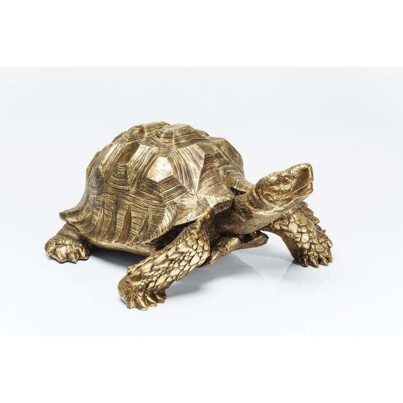 KARE Design hochwertige Deko Figur Turtle Schildkröte Gold XL 95 x 43 x 77 cm 30142