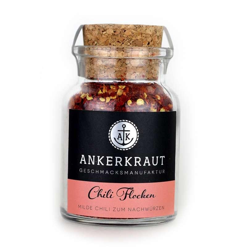 Ankerkraut Chili Flocken milde Chili im Korkenglas 65 g rotes Chiligewürz