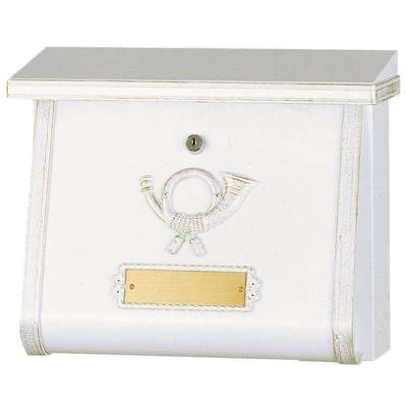 Heibi Briefkasten MULTI verzinkt pulverbeschichtet weiß gold patiniert