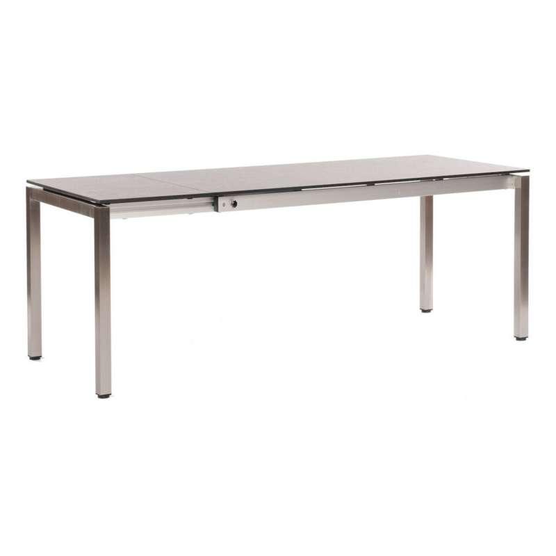 Sonnenpartner Ausziehtisch Base 160/210x90 cm Edelstahl mit wählbarer Tischplatte HPL Gartentisch au