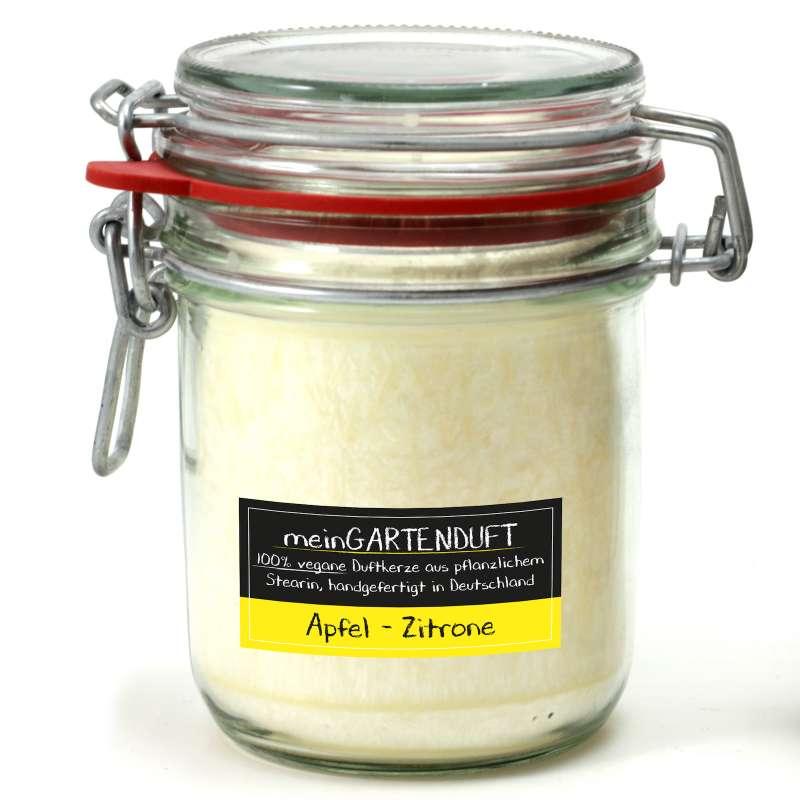 Candle Factory meinGartenduft Apfel-Zitrone Drahtbügelglas groß 506-001