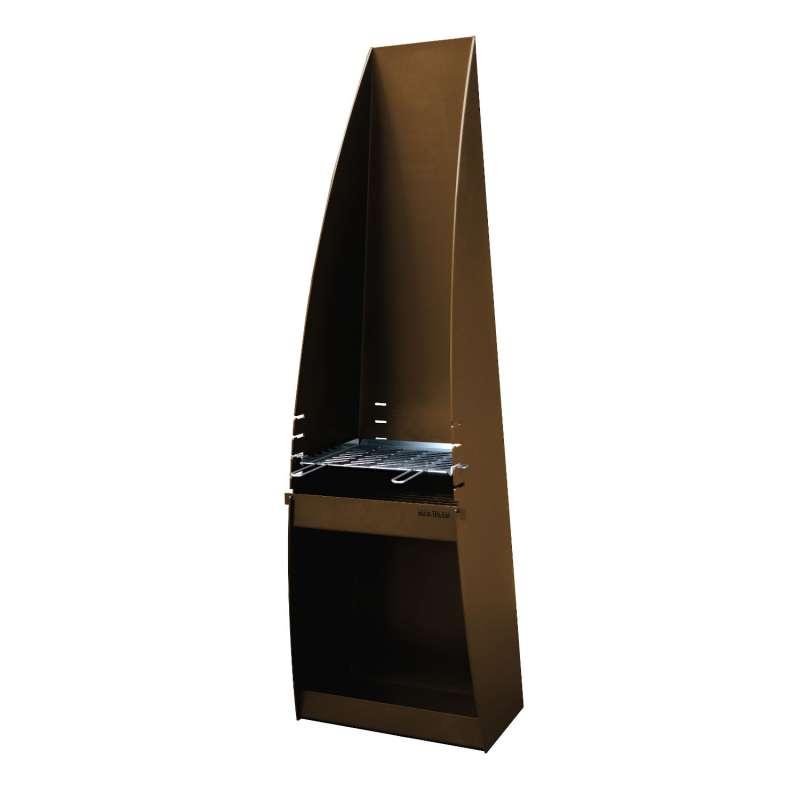 Hainser Gartenkamin und Grill Arcus Cor-Ten® 4-Stahl 55x40x180 cm
