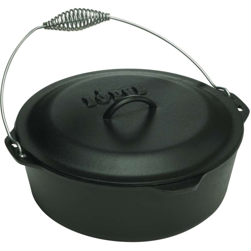 Rumo Barbeque Lodge Cast Iron Dutch Oven Topf inkl. Deckel 4,7 Liter