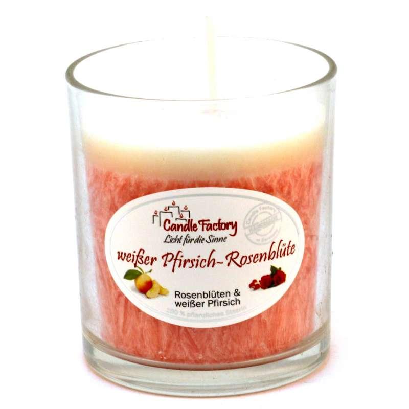 Candle Factory Party Light Kerze Weißer Pfirsich-Rosenblüte Duftkerze 201-120