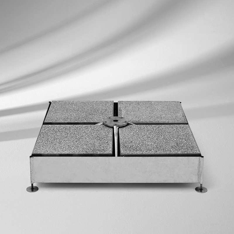 GLATZ Sockel M4 inkl. Plattenset Betonplatten 8 Stück 120 kg Stahlsockel