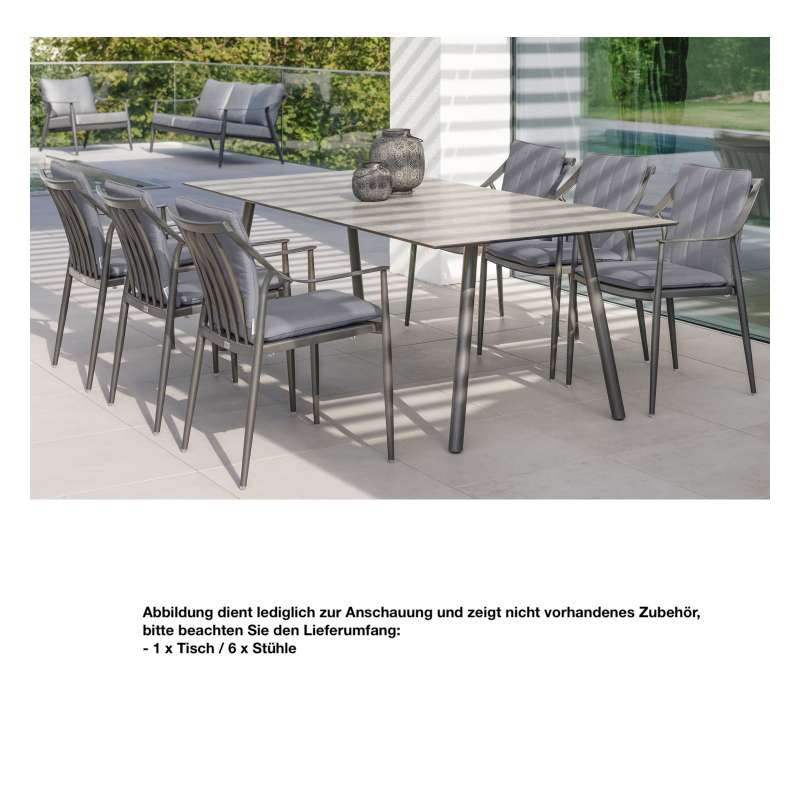 Stern Sitzgruppe Vanda Dining Komplettset Tischgruppe 7-teilig Sitzgarnitur Set