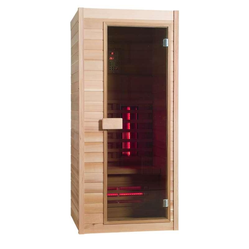Sauna Classic 1 Infrarotkabine Hemlock-Holz 1 Person ca. 90 x 90 x 200 cm