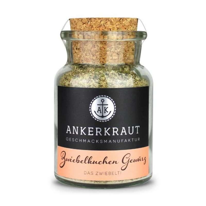 Ankerkraut Zwiebelkuchen Gewürz Gewürzmischung Gewürzzubereitung im Korkenglas 75 g