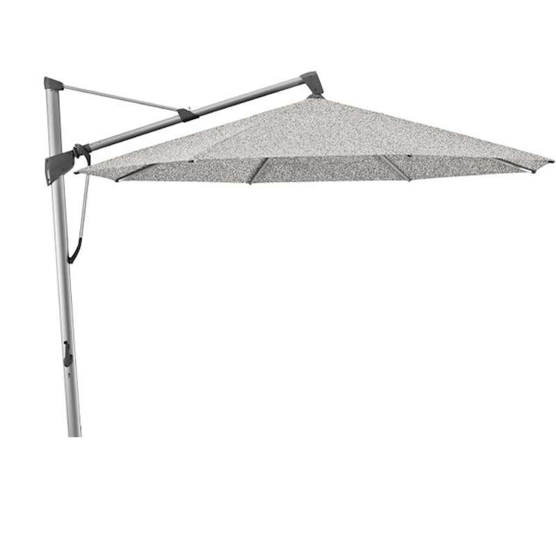 GLATZ Sonnenschirm SOMBRANO® S+ rund ø 350 cm Stoffklasse 5 Silver-Mélange 652