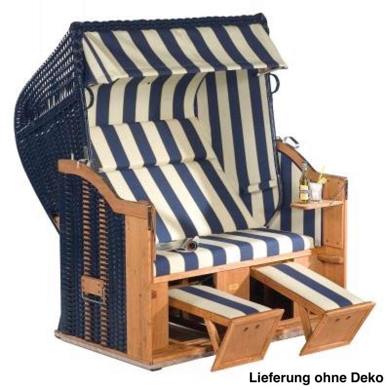 Sonnenpartner Strandkorb Classic XL Halbliegemodell blau weiß