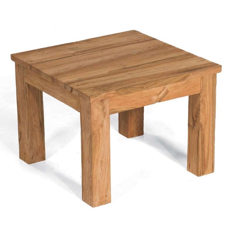 Sonnenpartner Lounge-Beistelltisch Charleston 60x60 cm Teakholz Old Teak Tisch Gartentisch