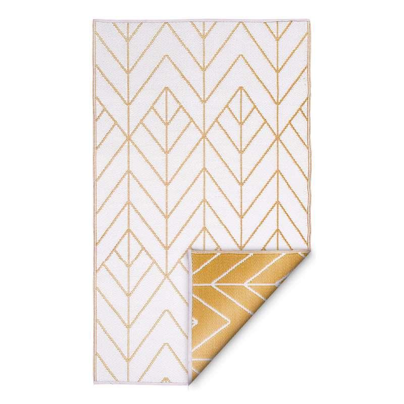 Fab Hab Outdoorteppich Sydney Gold&Cream aus recyceltem Plastik creme/gold 120x180 cm