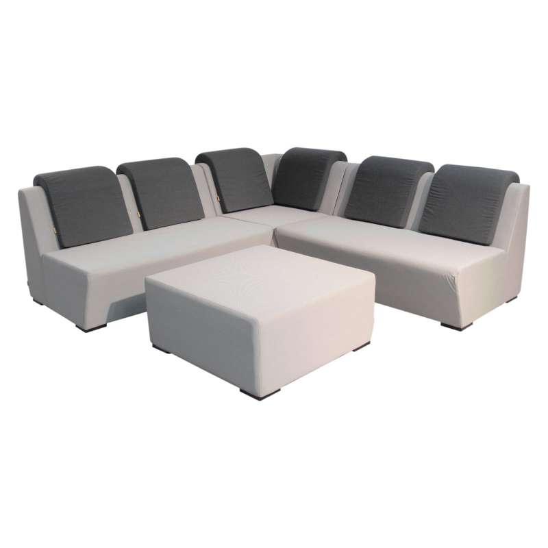 Life Nuna Lounge Sitzgruppe L-Form small Allwetter Textilbezug kaki ...