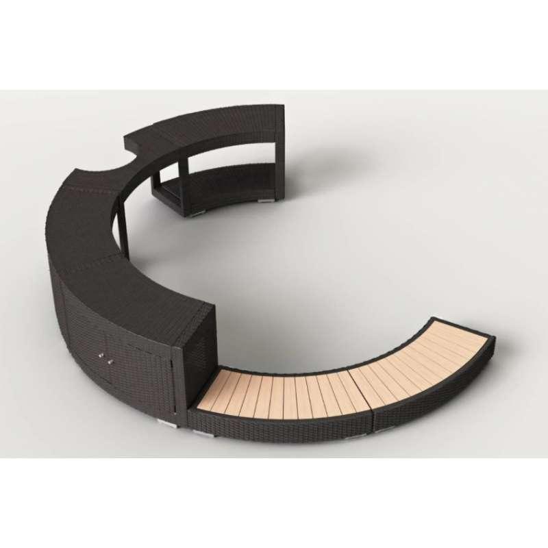 Softub 5/8 Poly Rattanumrandung mocca für Whirlpool Resort 300