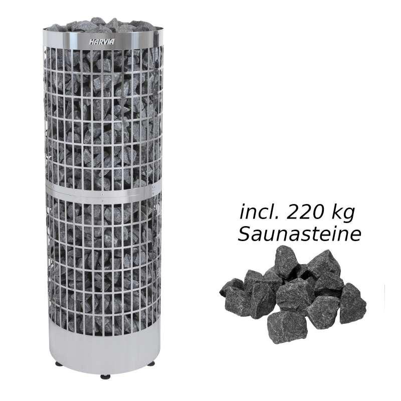 Harvia Saunaofen Cilindro Pro 16,6/19,8 kW Elektroofen Saunaheizgerät, Stahl