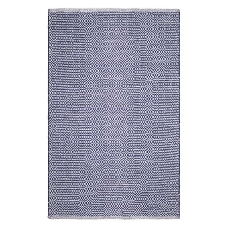 Fab Habitat Teppich Bodhi Blue aus recycelter Baumwolle blau 60x90 cm