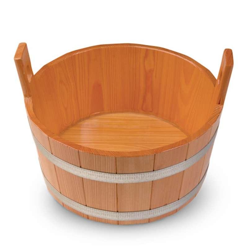 Arend Sauna Fussbadekübel Lärche 18 Liter naturbelassen