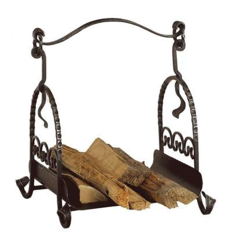 Heibi Holzkorb aus Stahl schwarz antik 52040-026