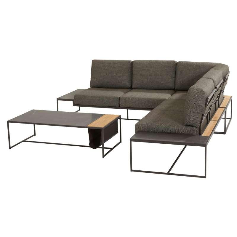 4Seasons Outdoor Patio Living 4-teilige Loungegruppe mit Tisch Anthrazit