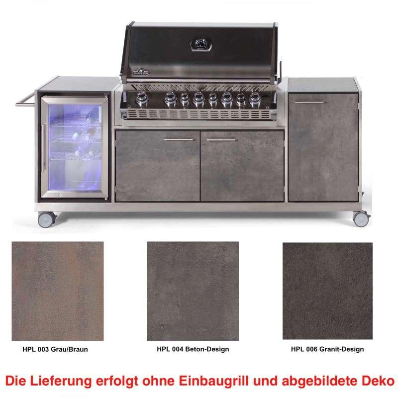 Niehoff Garden Outdoor-Küche Pro ca. 240,5 x 93 x 65 cm HPL Front Grillwagen