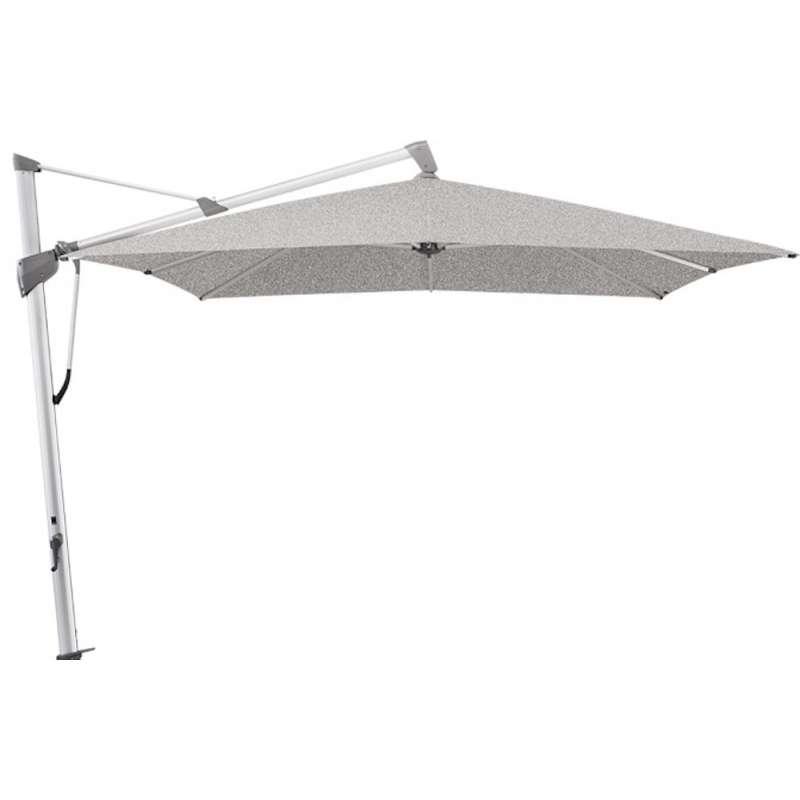 GLATZ Sonnenschirm SOMBRANO® S+ 400 x 300 cm Stoffklasse 5 Silver-Mélange 652