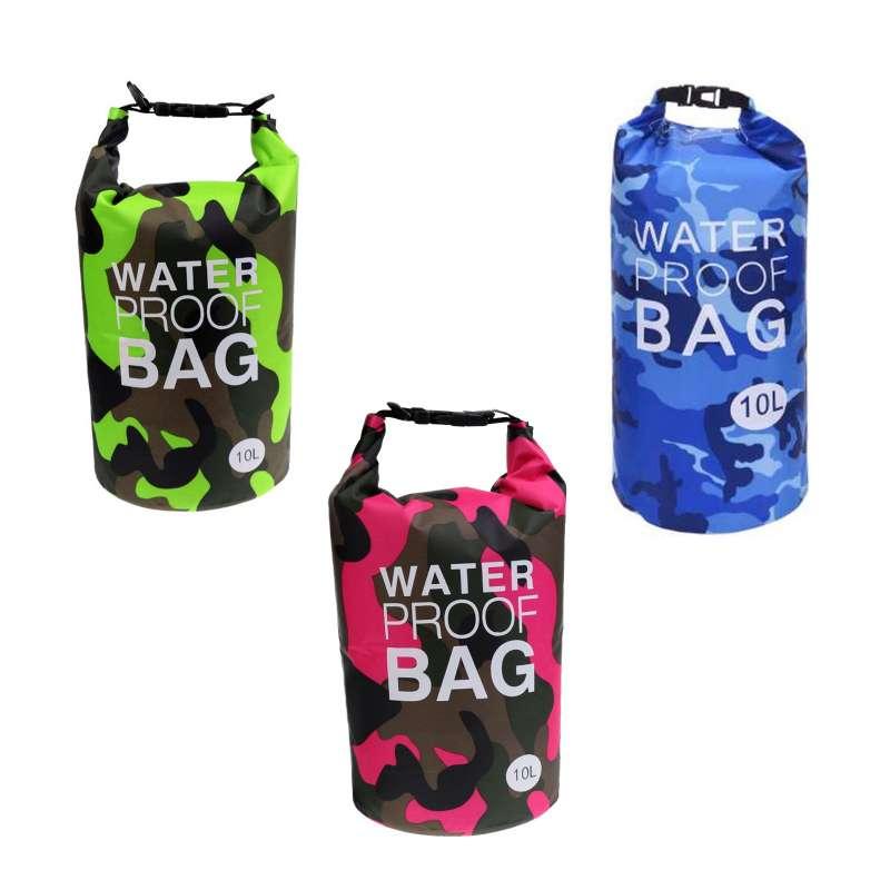 Drybag 10L SET Tasche 10 Liter Familienset wasserdicht Packsack Camouflage Water proof