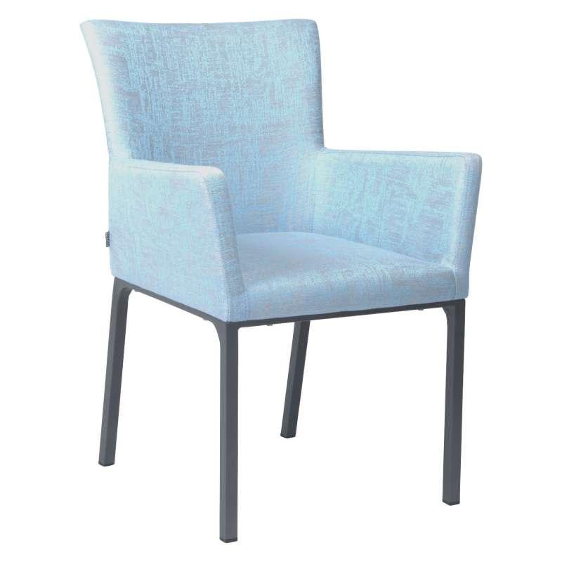 Stern Dining-Sessel Artus Aluminium anthrazit/ Outdoorstoff hellblau seidengrau Loungesessel Gartens