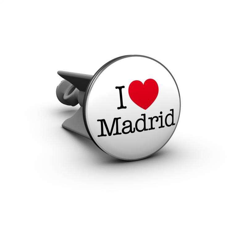 Plopp Waschtischstöpsel - Waschbeckenstöpsel Motiv I love Madrid 452