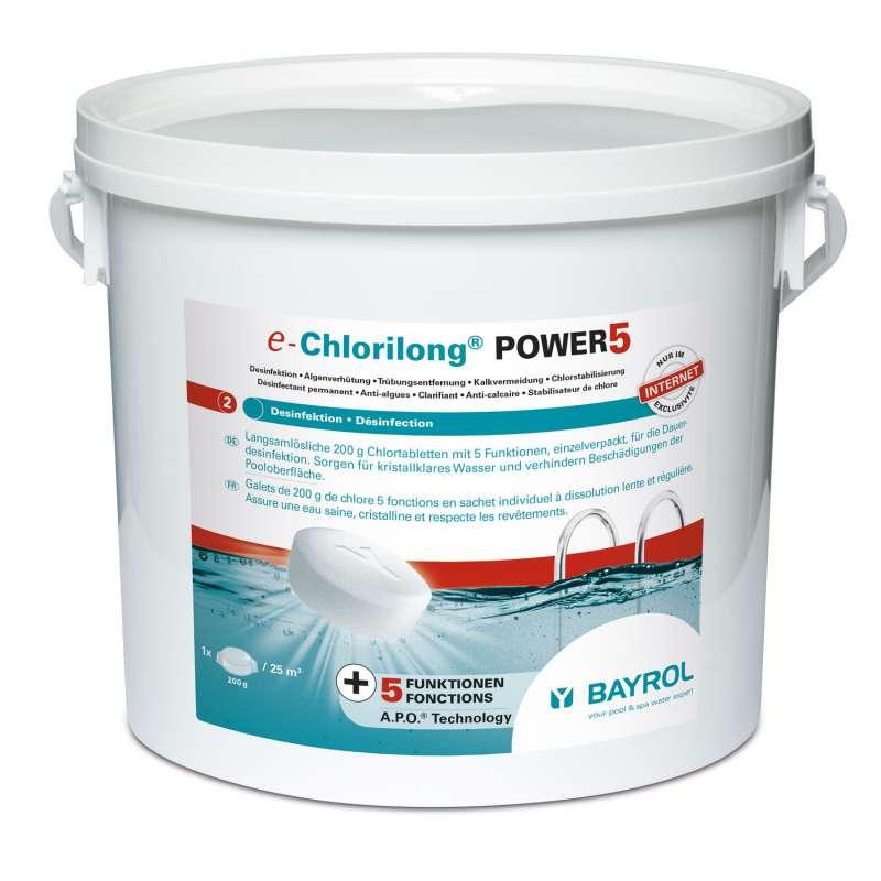 Bayrol e-Chlorilong Power 5 Multifunktionstablette à 200 g Chlordesinfektion 5 kg