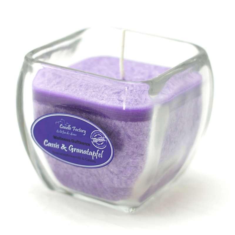 Candle Factory Wellness Duftkerze Cassis & Granatapfel Dekokerze 800-023