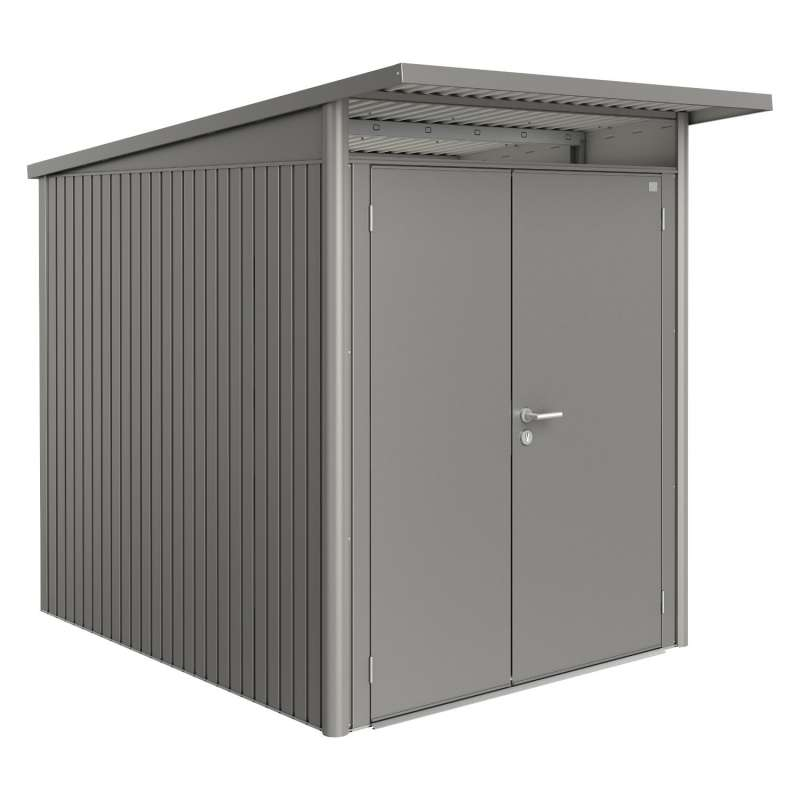 Biohort Gartenhaus AvantGarde® mit Doppeltür quarzgrau-metallic 8 verschiedenen Größen Gerätehaus