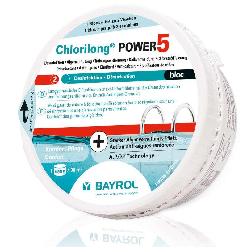 Bayrol Chlorilong Power 5 Bloc Maxi Chlortablette 650 g Dauerdesinfektion