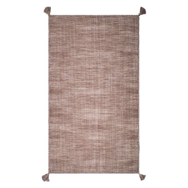 Fab Habitat Teppich Asana Sand aus recycelter Baumwolle sand 120x180 cm
