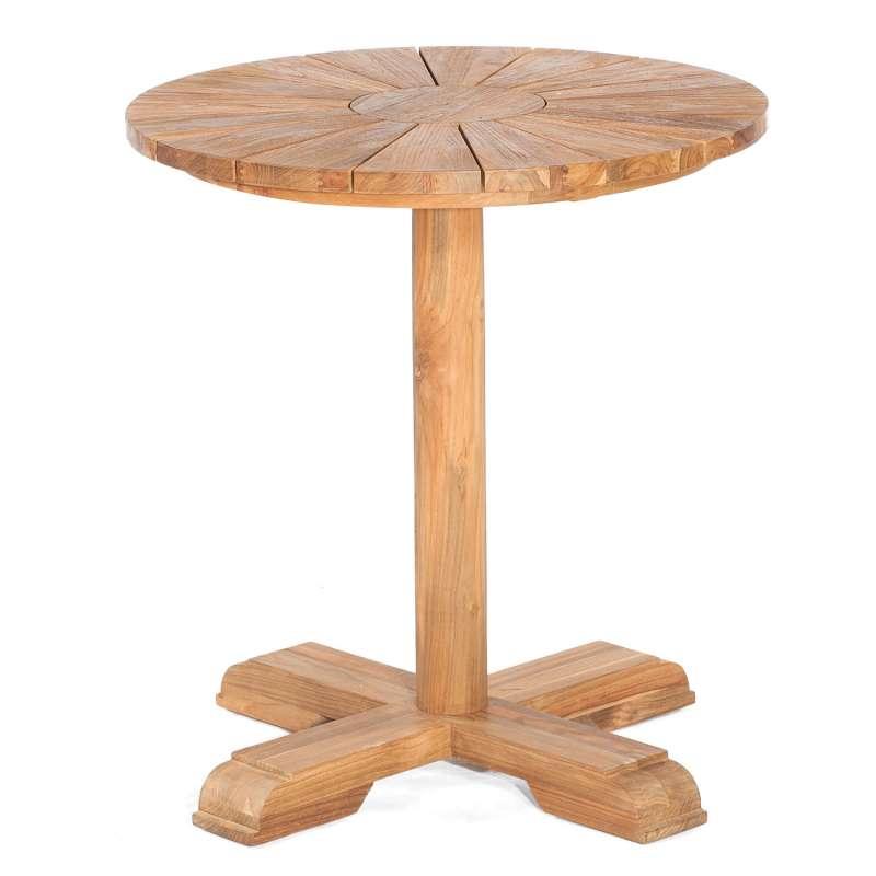 Sonnenpartner Gartentisch Solis rund Ø 70 cm Teakholz Old Teak Tisch Esstisch
