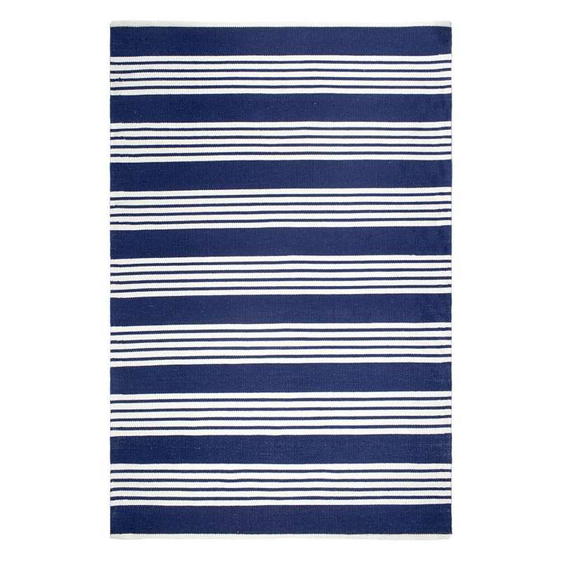Fab Hab Outdoorteppich Mariona Stripe Blue&White aus recycelten PET-Flaschen blau/weiß 60x90 cm