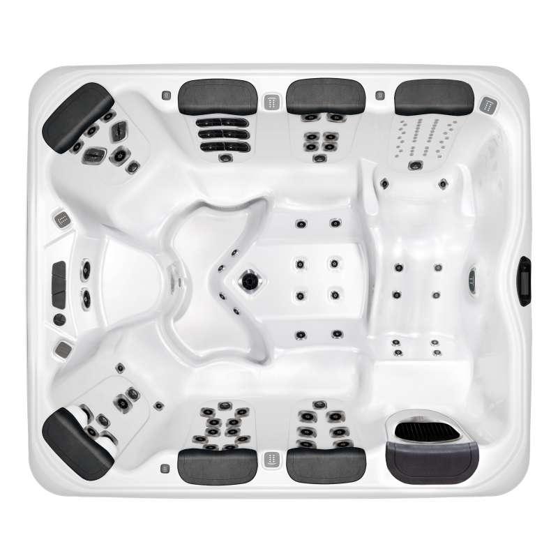 Villeroy & Boch Whirlpool A9L Fitness Edition Snow Timber Ash Grey für 8 Personen