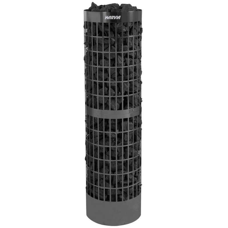 Harvia Cilindro Pro 10/13,2 kW Black Steel PC100E/135E Saunaofen Elektroofen Edelstahl schwarz