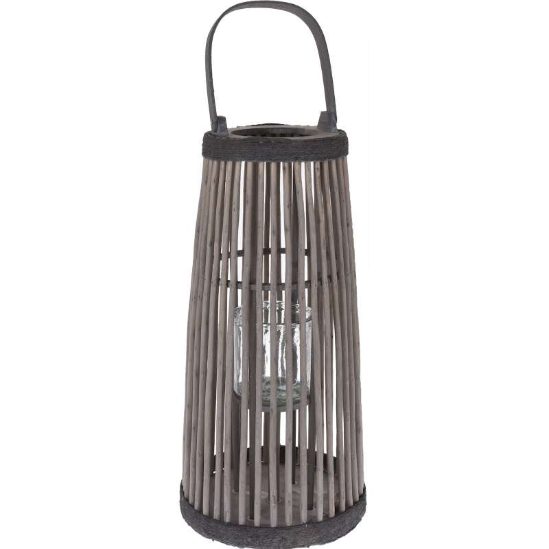 Laterne Dekolaterne 29 x 57 cm Gartenlaterne Beleuchtung Deko Holzlaterne Windlicht