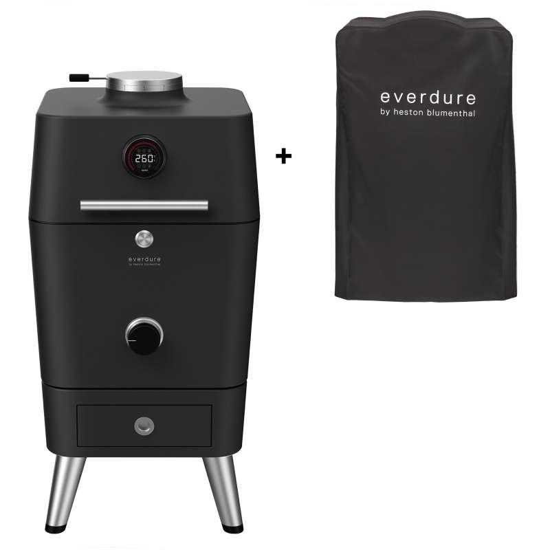 Everdure 4K Kohle- und elektrischer Outdoor Ofen inkl Premium Abdeckhaube