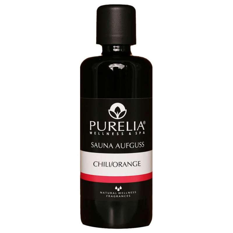 PURELIA Saunaaufguss Konzentrat Chili-Orange 100 ml natürlicher Sauna-aufguss - reine ätherische Öle