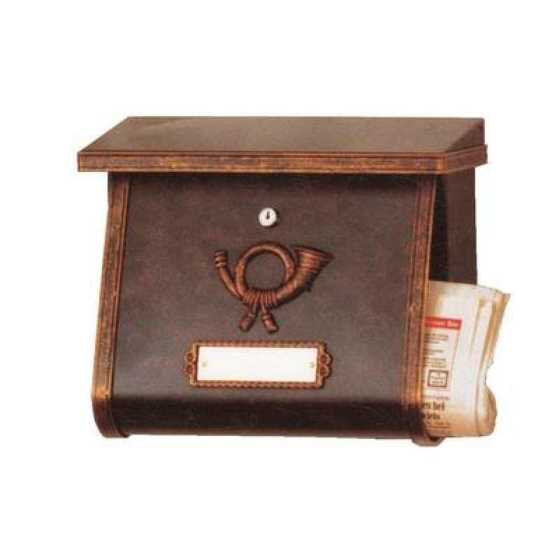Heibi Briefkasten MULTI verzinkt pulbeschichtet braun gold patiniert 64104-002