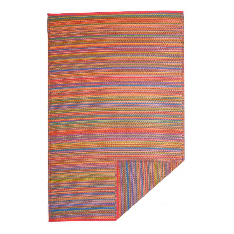 Fab Hab Outdoorteppich Cancun Multicolor aus recyceltem Plastik bunt 75x240 cm